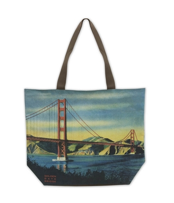 Tote Bag - Golden Gate Bridge Vintage Photos