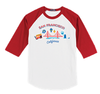 T-Shirt-San Francisco Toddler Raglan