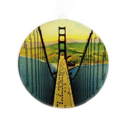 Window Ornament - Golden Gate Bridge Vintage