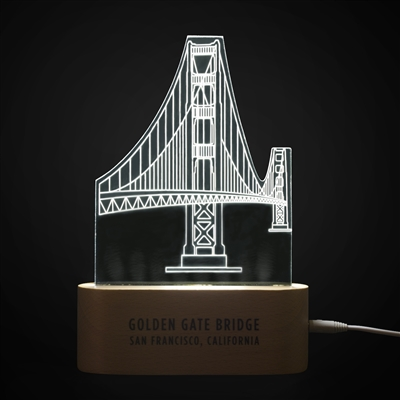 LED Table Lamp - Golden Gate Bridge