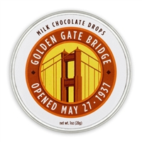 Milk Chocolate Drops - Golden Gate Bridge