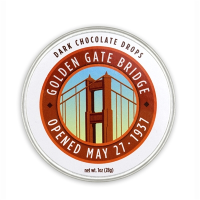 Dark Chocolate Drops - Golden Gate Bridge