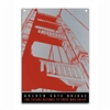 Metal Sign - Golden Gate Bridge Orange/Gray