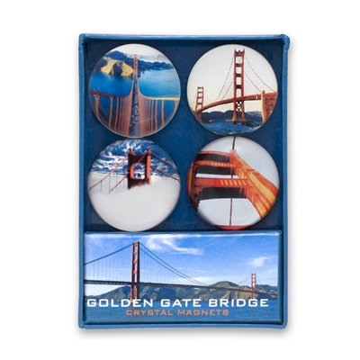 Crystal Magnet Set - Golden Gate Bridge
