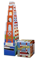 Stacking Blocks - Golden Gate Bridge