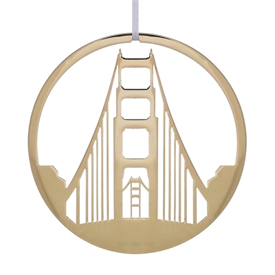 Ornament - Gold Golden Gate Bridge Tower
