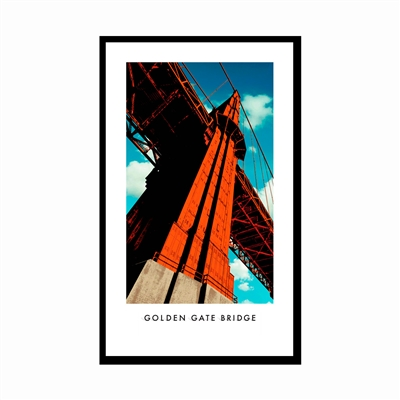 Framed Poster - Golden Gate Bridge Tower