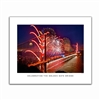 Unframed Poster - Golden Gate Bridge Fireworks