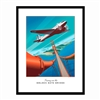 Framed Poster - DC-2 Soars Over the Golden Gate