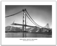 Unframed Poster - Spanning the Golden Gate
