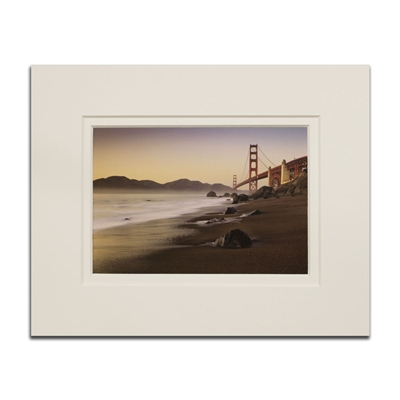 Matted Print - The Bridge from the Beach