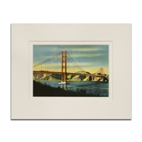 Matted Print - The Bridge from the Presidio