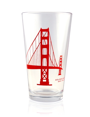Pint Glass - Golden Gate Bridge