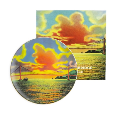 Porcelain Plate - Vintage Golden Gate Bridge