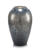 Smoky Antique Silver Glass Vase