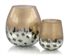 Gold and Black Deco Dots Vase Small