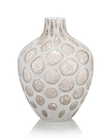 Look of Quartz Handblown Glass Vase