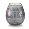 Twinkling Blue and Silver Round Vase