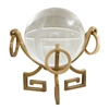 Brass Greek Key with Crystal Ball