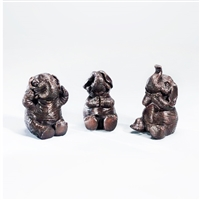 Bronze Elephants  Set of 3