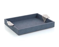 Gypsy Blue Leather Tray II