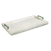 White Bone and Nickel Tray
