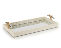 Capiz & Mirror Tray
