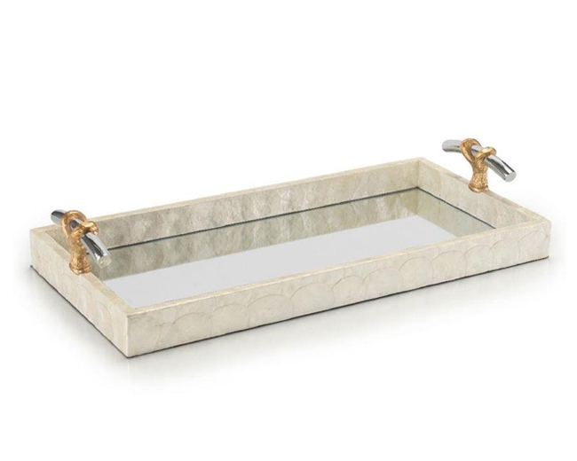 Capiz Mirror Tray