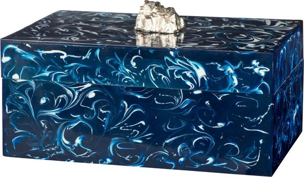 Faux Blue Agate Box