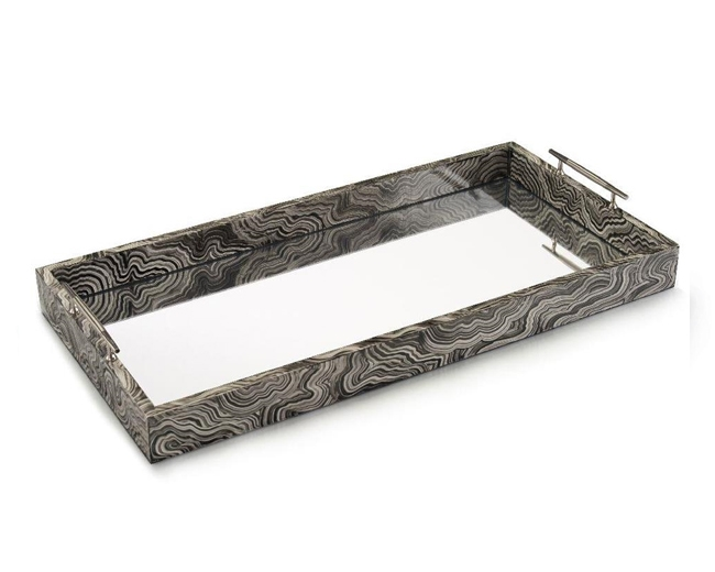 Black White Marble Tray