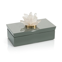 Gray Box with Quartz