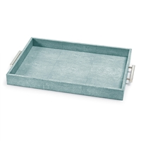 Turquoise Shagreen Rectangular Tray
