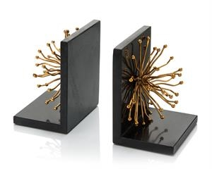 Sunray Flower Bookends, Pair