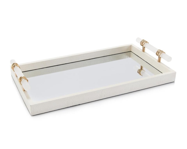 White Enameled Tray