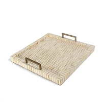Nevis Multi-Tone and Brass Tray