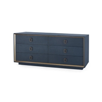 Ansel Extra Large 6-Drawer, Navy Blue