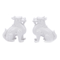 White Kylin Dragons Pair