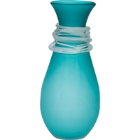 Teal Requiem Glass Vase