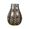 Small Brown Vase with lines