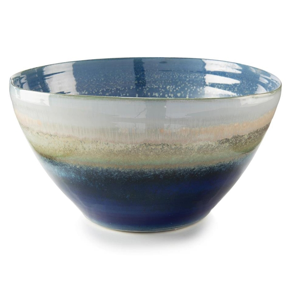 Reactive Blue Cream Bowl Tall