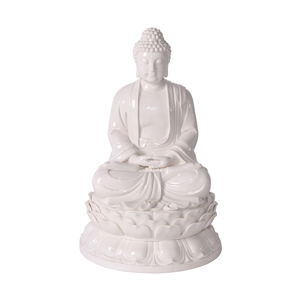 White Porcelain Meditating Buddha