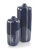Sapphire Blue with Grey Porcelain Vases (Large)