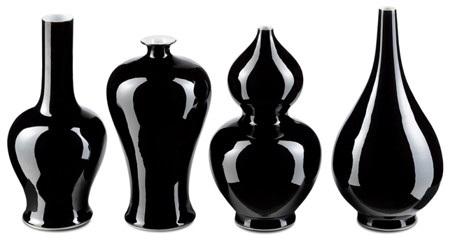 Imperial Black Vase Set