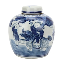 Blue and White Mini Jar Boys with Kryin