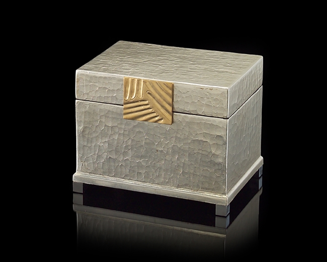 Silver Leaf and Brass Box Small