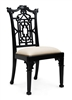 Chippendale Side Chair Black