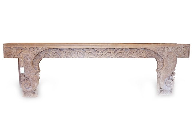 Carved Bench Teak