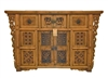 Carved Elm Coffer