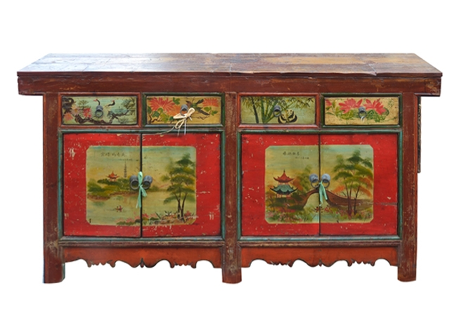 Chinese Painted Coffer