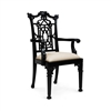Chippendale Arm Chair, Black
